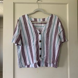 Abound striped blouse